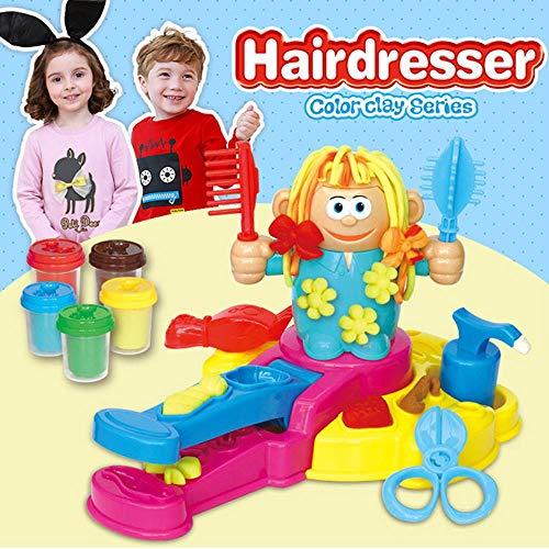 AOLVO Juego de peluquería para Masa de Juguetes, Juguete 3D para niños, Kit de Herramientas de plastilina, Juego de Bricolaje, Juguetes pretendidos con Masa y moldes