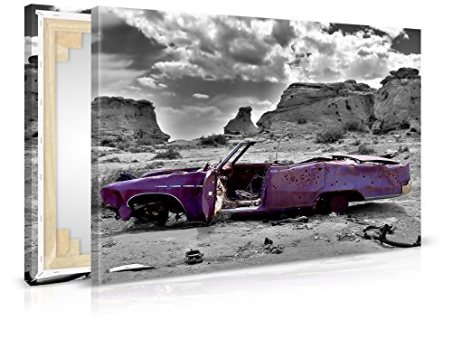 XXL-Tapeten Leinwandbild Vintage Car - Fertig Aufgespannt - Gemälde, Kunstdruck, Wandbild, Keilrahmen, Bild auf Leinwand von Trendwände - Format: 90x60cm, Standard: Polyester-Leinwand 2cm Rahmen