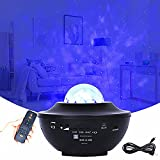 Star Projector Night Light, Starry Sky Projector Bluetooth, LED Wave Light Projector, Relaxation, Night Light, Ambience Light, for Bedroom, Home, Parties, Gift for Mother's Day