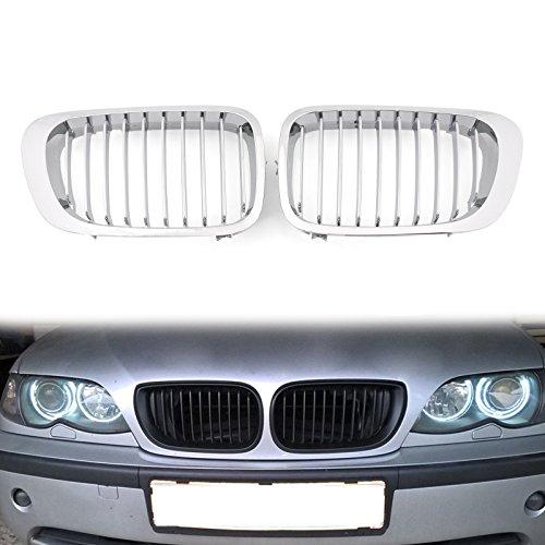 Artudatech parrilla de coche, rejilla frontal de malla ABS para parrilla de coche, 10 rejillas para B M W E46 2 puertas 1999-2002 Serie 3