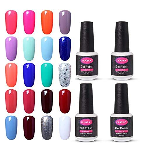 CLAVUZ Soak Off UV Gel Nail Polish Kit Pick Any 3 Color Nail Lacquer Set Beauty Nail Art DIY at Home Top and Base Coat can Pick