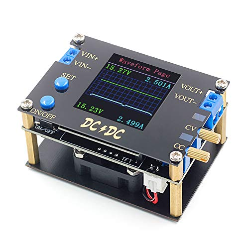 ZHITING DC DC DC Automático Boost/Buck Convertidor CC CV Módulo de Alimentación 0.5-30V 6A,60W Ajustable Regulado Fuente de Alimentación Voltímetro amímetro