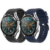 Supore Cinturino Compatibile con Huawei Watch GT2 46mm/Watch GT 46mm/Watch GT Active/Watch 2 PRO/Honor Watch Magic/Galaxy Watch 46mm/Gear S3/Gear 2, Cinturino di Ricambio in Silicone da 22 mm