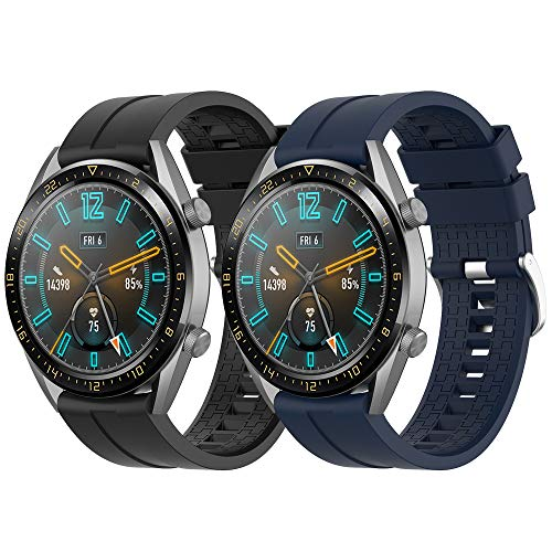 Supore Armband Kompatibel mit Huawei Watch GT2 46mm/Watch GT 46mm/Watch GT Active/Watch 2 Pro/Honor Watch Magic/Galaxy Watch 46mm/Gear S3/Gear 2, 22mm Silikon Ersatzarmband