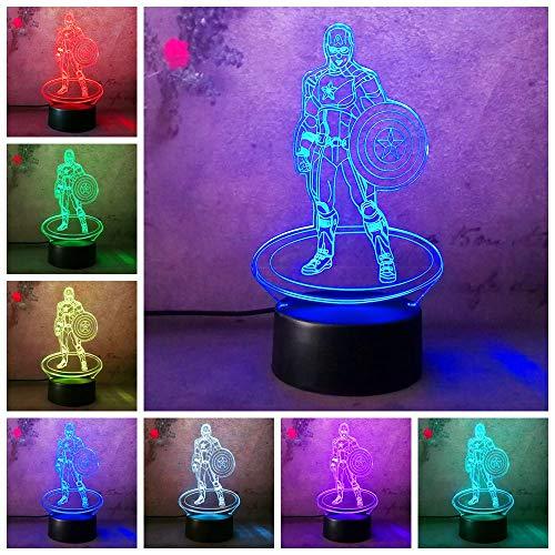 Bürgerkrieg LED Nachtlicht 3D Figur Farbe Tischlampe Boys Xmas Year Gifts Boy Baby