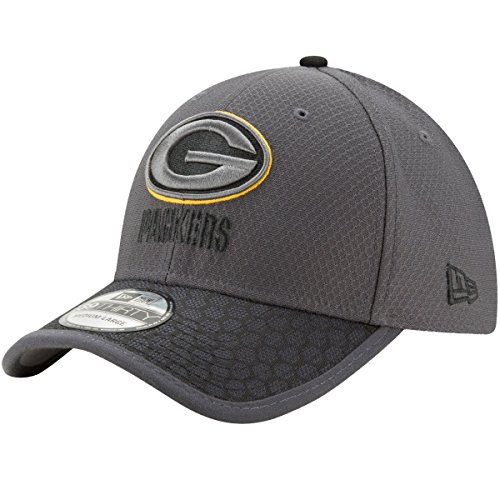 Green Bay Packers New Era NFL 39THIRTY 2017 Sideline Graphite Flex Fit Hat Hut