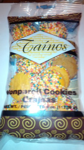 1 Pack of Nonpareil Cookies (Grajeas) By Tainos