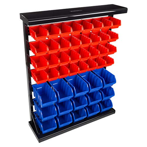 Stalwart 75-ST6079 orage Rack Organizer- Wall Mountable Container with Removeable Drawers for Tools, Hardware, Crafts, Office Supplies and More by Stalwart