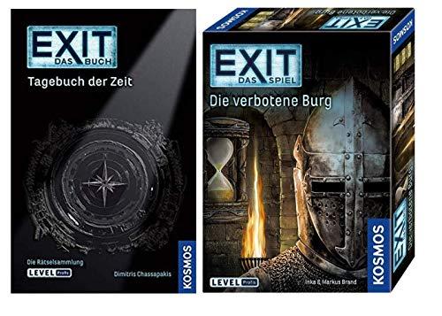 EXI T - Das Buch - Tagebuch der Zeit - Libro de bolsillo + Das Spiel - Die verbotene Burg
