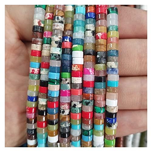 ZLDDE Cuentas de Piedra Piedra Natural Lapis Lazuli Espaciador Beads Charm DIY Mujer Pulsera Collar Accesorios Unisexo (Color : Colorful Stone)