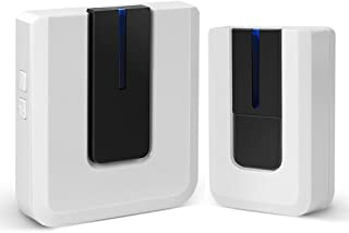 InJoy Wireless Doorbell Kit with 36 Chimes, Alarm System Door Smart Bell, Operating at 500 Feet,Battery Powered Ring Doorbells & Chimes