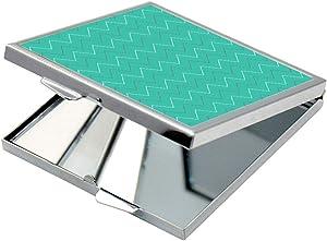 مرآة جيب، بتصميم خطوط مموجة ، شكل مربع