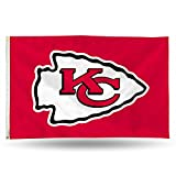 NFL Kansas City Chiefs 3-Foot by 5-Foot Single Sided Banner Flag with Grommets