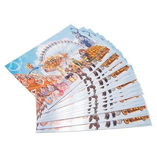 Alpenflüstern Postkarte Oktoberfest (25 Stück) - Ansichtskarte und Einladungs-Karte mit Wiesn Motiv TIS007