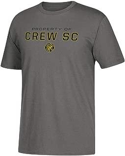 adidas Columbus Crew SC MLS Men's Dedicated Property of Charcoal Performance T-Shirt