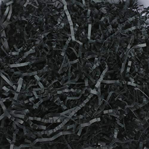 Knisterschnittpapier, 100 g, für Geschenkverpackungen, Füllmaterial zum Verpacken (schwarz)