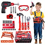 Vykor 35 Pieces Of Children's Tool Toy Electric Drill Set,Handmade Toys With Screwdriver Nuts And Wrenches,Set For Children Ages 3+ Years Old