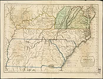 Gifts Delight Laminated 27x21 Poster  Map of The Southern States of America comprehending Maryland Virginia Kentucky Territory s Zoom into This mapa at rel
