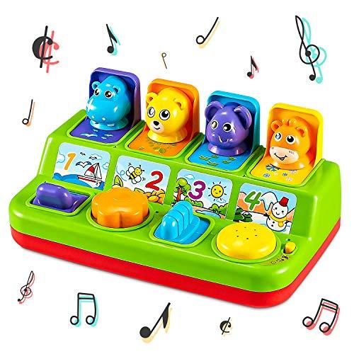Think Gizmos Giocattoli di attività per i più Piccoli - Giocattoli educativi interattivi per Bambini Piccoli (Animali Pop-up)