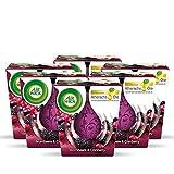 Air Wick Wohlfühl-Duftkerze – Duft: Brombeere & Cranberry – Enthält natürliche ätherische Öle – 6 x Duftkerze in Lila