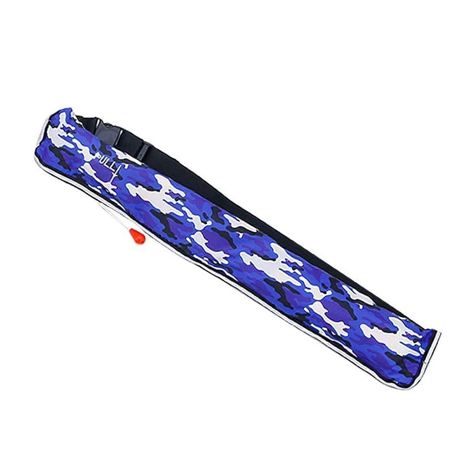 軽蔑落ち着かない潤滑する【SIMPLY】ライフジャケット 大人用/男女兼用 インフレータブル ライフベルト 手動膨張式/ベルトタイプ (ブルー迷彩)