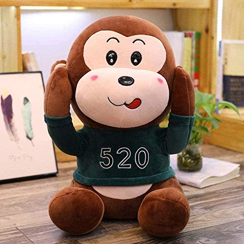 N-T Monkey Boy Plush Toy Gorilla Cute Girl Little Monkey Doll Boy Birthday Gift 50Cm Green Birthday Gifts
