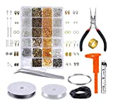 MosBug Jewelry Making Supplies Kit - Jewelry Repair Tools with Accessories Jewelry Pliers Findings and Beading Wires for Adult and Beginners