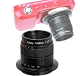 Fotasy 35mm f1.7 Lens for Sony E-Mount Camera, 35mm 1.7 Multi Coated Manual E-mount Lens fits Sony NEX-5R NEX6 NEX7 a3100 a5100 a6000 a6100 a63000 a6400 a6500 a6600