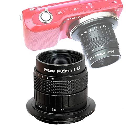 Fotasy 35mm f1.7 Lens for Sony E-Mount Camera