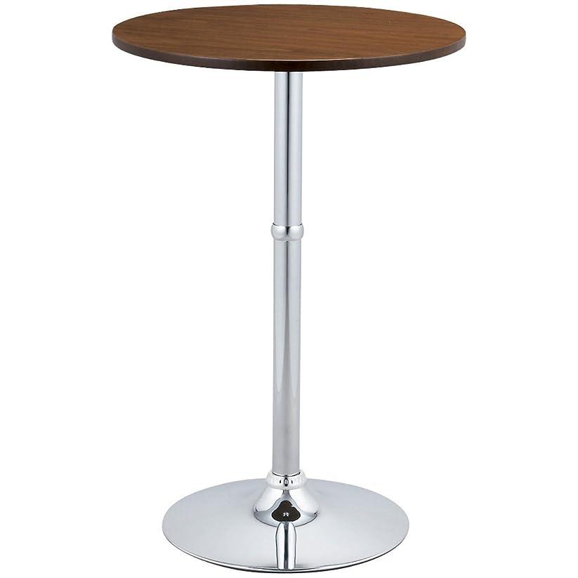 牧草地利益コーヒー宮武製作所 カウンターテーブル ブラウン 径60×高さ90cm ハイテーブル Luciole(ルシオール) KNT-J1061(BR)