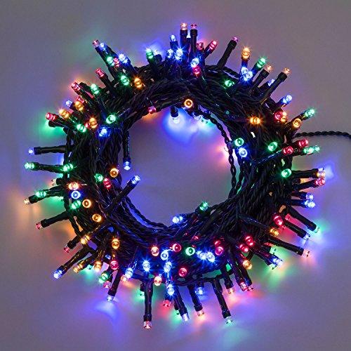 XMASKING Catena 24,5 m, 600 LED Multicolor, con Memory Controller, Cavo Verde, 24V, Esterno