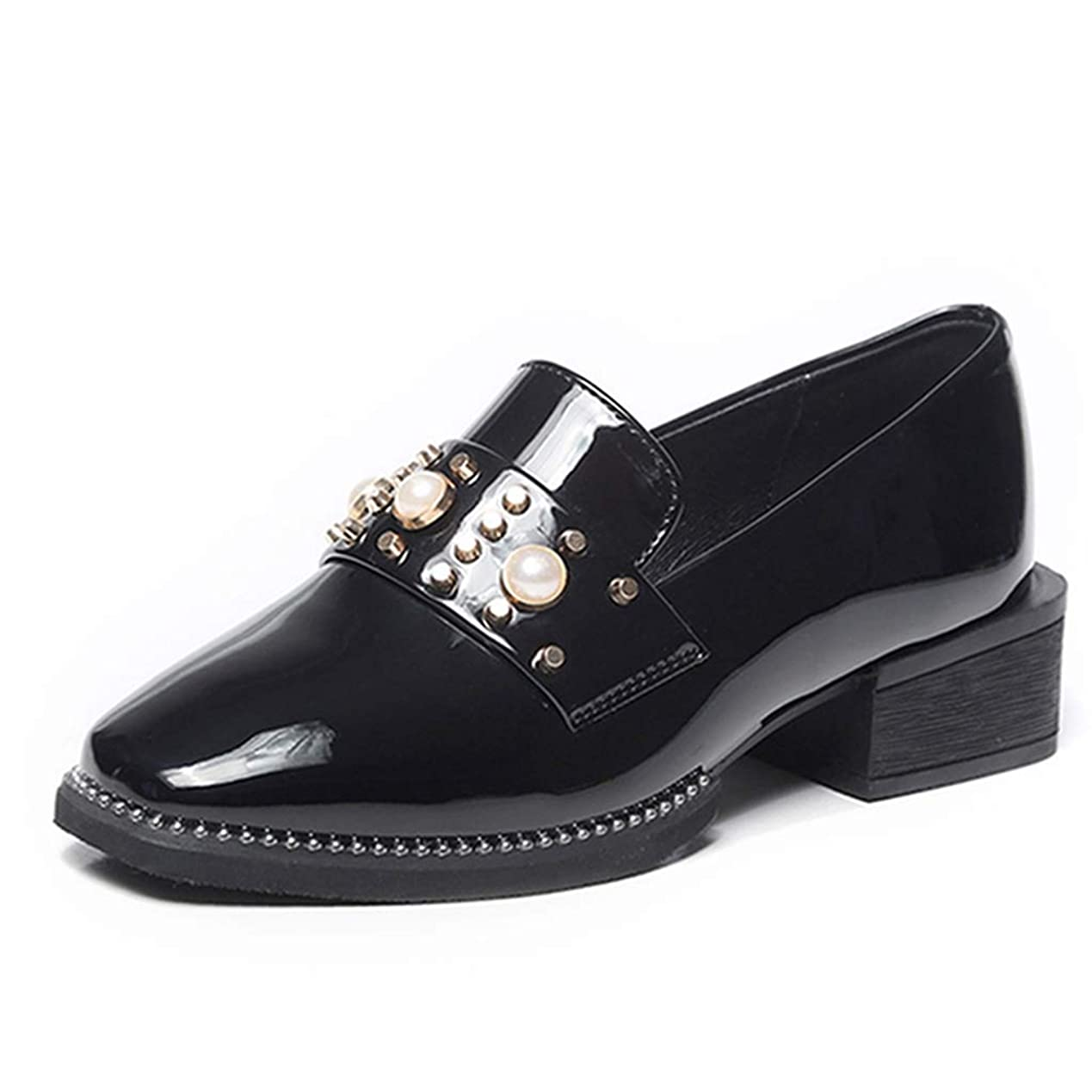 優越ハウジング消す[リンゼ] フラットシューズ ローファー レディース カジュアルシューズ スリッポン ぺたんこ シューズ モカシン 歩きやすい ドライビングシューズ 靴 真珠 シンプル 女子 学生 履きやすい クッション シングルシューズ 軽量