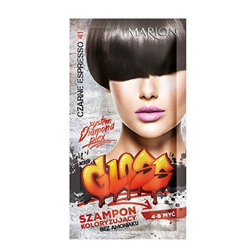 Marion - Champú de color brillante para el cabello en bolsa de 4 a 8 lavados, color negro