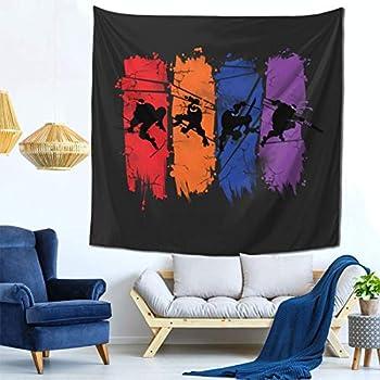 Teenage Mutant Ninja Turtles Tapestries Wall Hanging Dorm Decor for Living Room Bedroom One Size