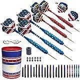 SHOT TAKER CO. EST. 2017 Steel Tip Darts Set - USA American Flag &...