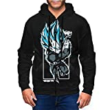 Super Saiyan Vegeta Ultra Instinct Unisex Hoodies with Hat Full Zip 3D Sweatshirt Casual Hoodies Teen Jacket