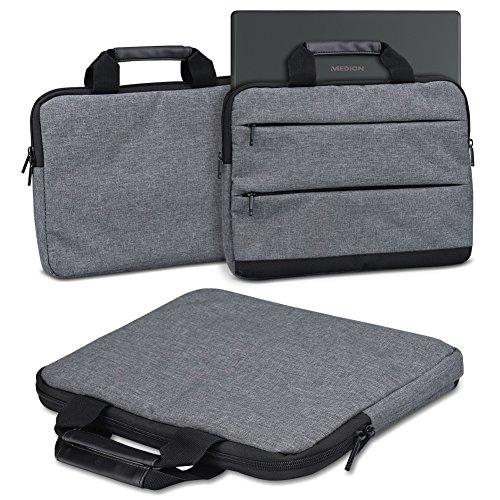 Schutzhülle für Medion Akoya E2293 Laptop Tasche Sleeve Case Notebooktasche Hülle in Grau, Farbe:dunkel Grau