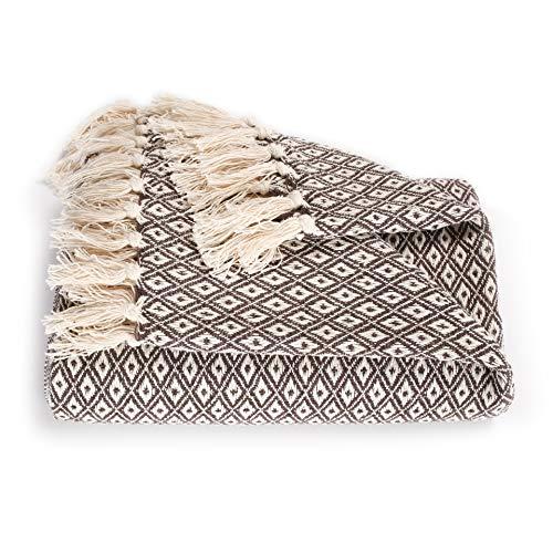 EHC Super Soft Cotton Große Überwurfbezüge Bis zum 2-Sitzer-Sofa oder Doppelbett-Braun