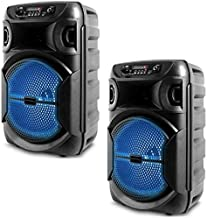 $88 » Sponsored Ad - (Qty 2) Portable 8 Inch Portable 1000 watts Bluetooth Speaker with Woofer & Tweeter, Festival PA LED Speake...