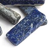 RIMEI Decoraciones para el hogar Piedra Azul Natural lapislázuli Cuarzo Cristal Punto espécimen coleccionables Piedras decoración del hogar (Color, Size : 3 7cm by Random)