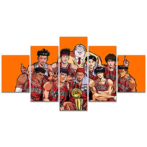 Slam Dunk Anime Poster Print on Canvas Wall Picture for Living Room Decor Wall Art (Unframed, Slam Dunk)