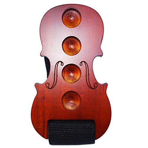 MOREYES - Tapón de madera para violonchelo antideslizante, rojo