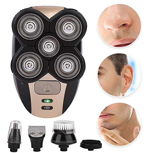 Zetiling Electric Shaver for Men, 5 Floating Head Wet Dry Electric Rotatory Shaver, Waterproof Instant Electric Shaver for Legs Face Arm Underarms Best Trimmer