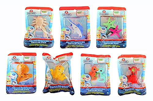 Fisher Price - Octonauts Sea Creature Pack - Seahorse, Octopus, Torpedo Ray, Yet Crab, Sailfish, Squid & Starfish - Set of 7