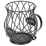 Coffee Cup Capsule Storage,Coffee Storage Basket Kitchen Capsule Holders Espresso Pod Holder M&W,Vintage Coffee Pod Organizer,for Home Cafe Hotel (Black)