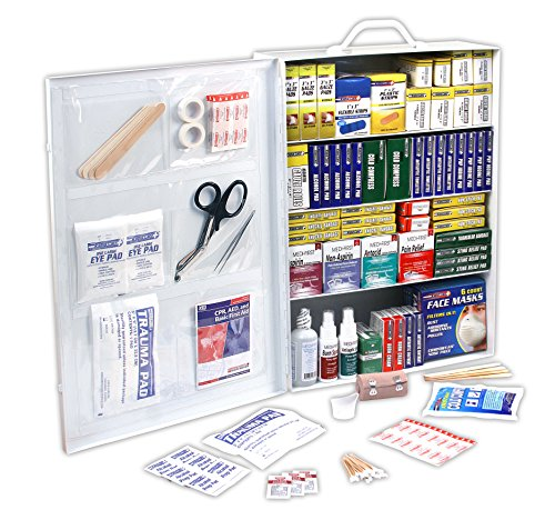 Rapid Care First Aid 80095 4 Shelf ANSI/OSHA Compliant All Purpose First Aid Cabinet, Wall Mountable, 1,110 Pieces