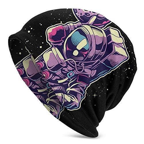 WangHQ Bee Pattern - Gorro de punto unisex, diseño de calavera Galaxy Space Astronauta - Balón de baloncesto Talla única