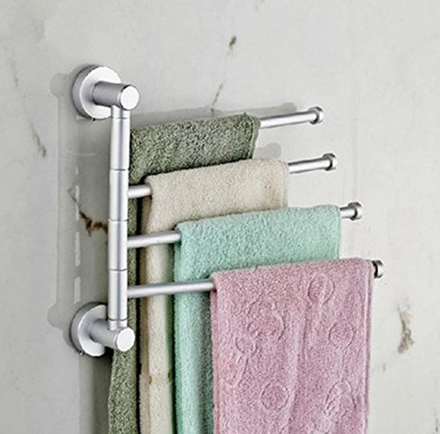 360 Degree redation Bathroom Dry-Towels, Hair-Towels, Hair-Towels Round Head, Aluminum, Four Rooms of The Space Bar Dry-Towels