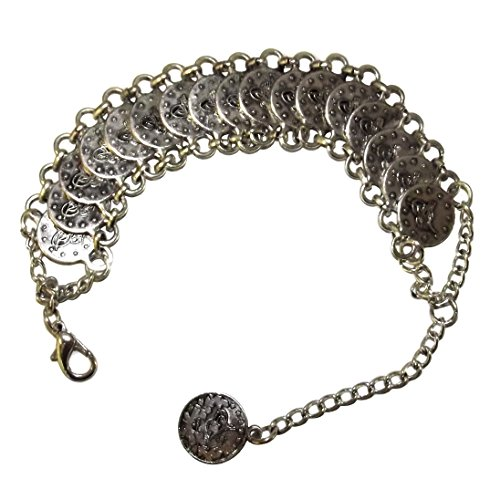 Armreif Bettelarmband Münzen silber Bollywood Mittelatler Wicca Gypsy