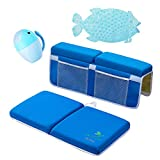 Baby Bath Set Baby Bath Kneeler Pad and Elbow Rest Baby Bathing mat and Waterfall Rinser